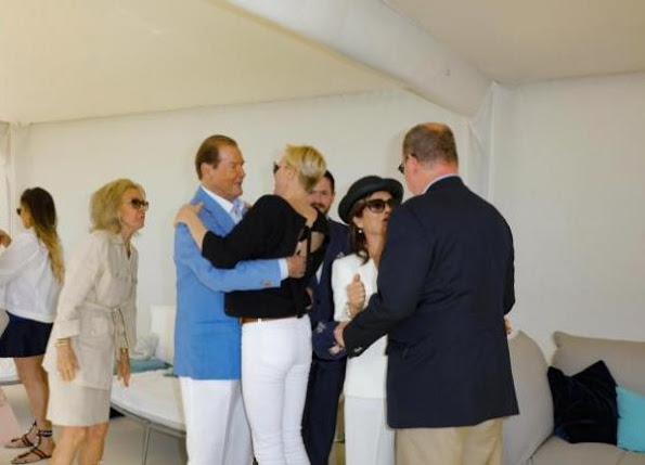 Princess Charlene visited Monte Carlo Polo Clup, Princess Charlene style LOUIS VUITTON bag