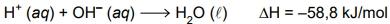 FAMEMA 2021: A reação de neutralização entre um ácido forte e uma base forte produz calor de acordo com a equação: