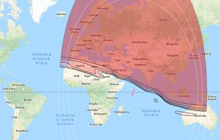 Beam Coverage Satellite Intelsat 33E 60.0°E KU Band