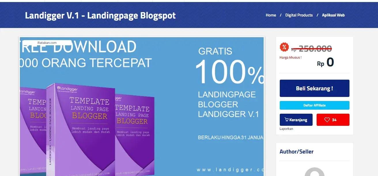 Landigger V.1 - Templete Landing Page Profesional Gratis