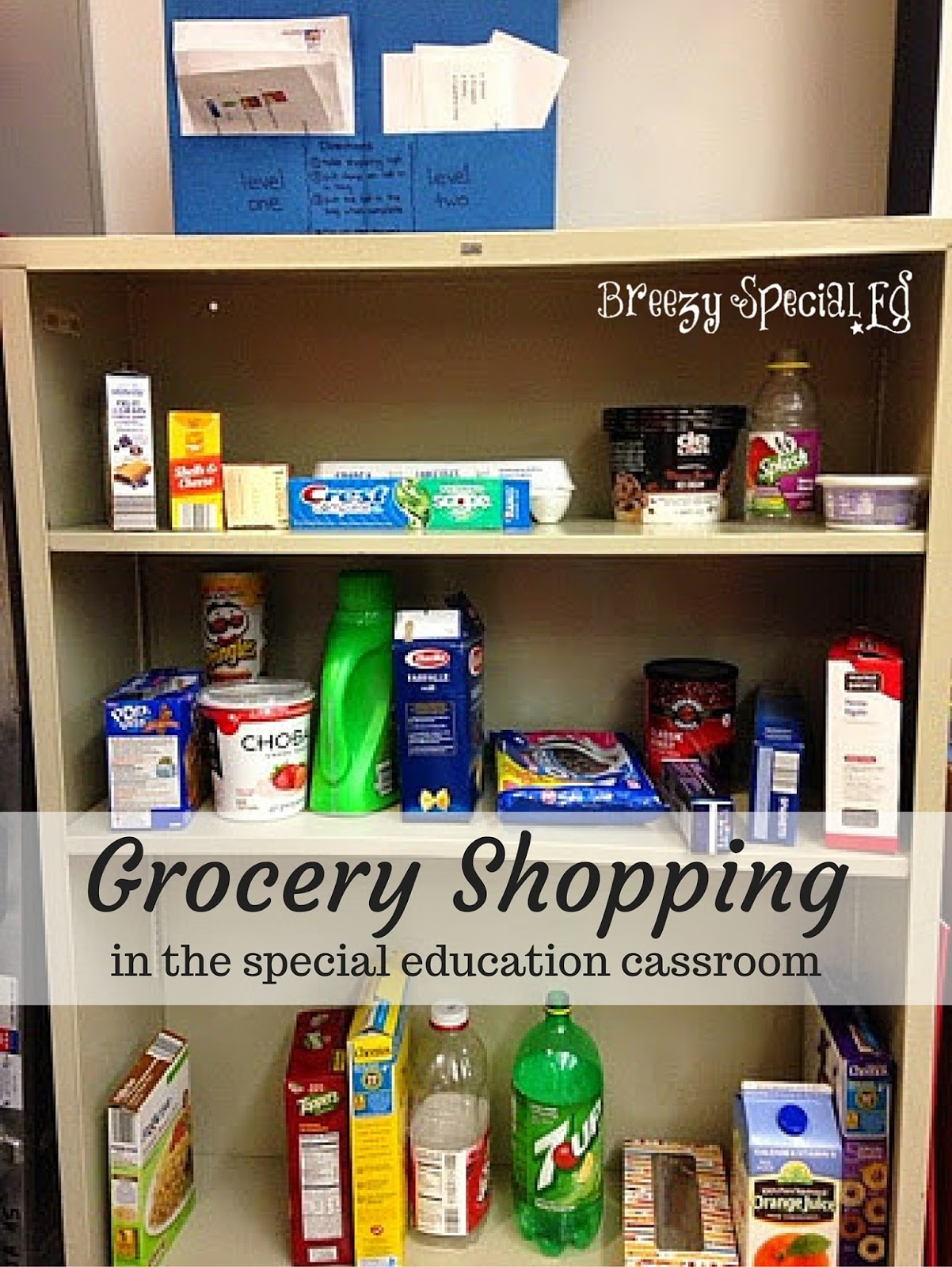 Grocery Shopping in the Classroom - Breezy Special Ed