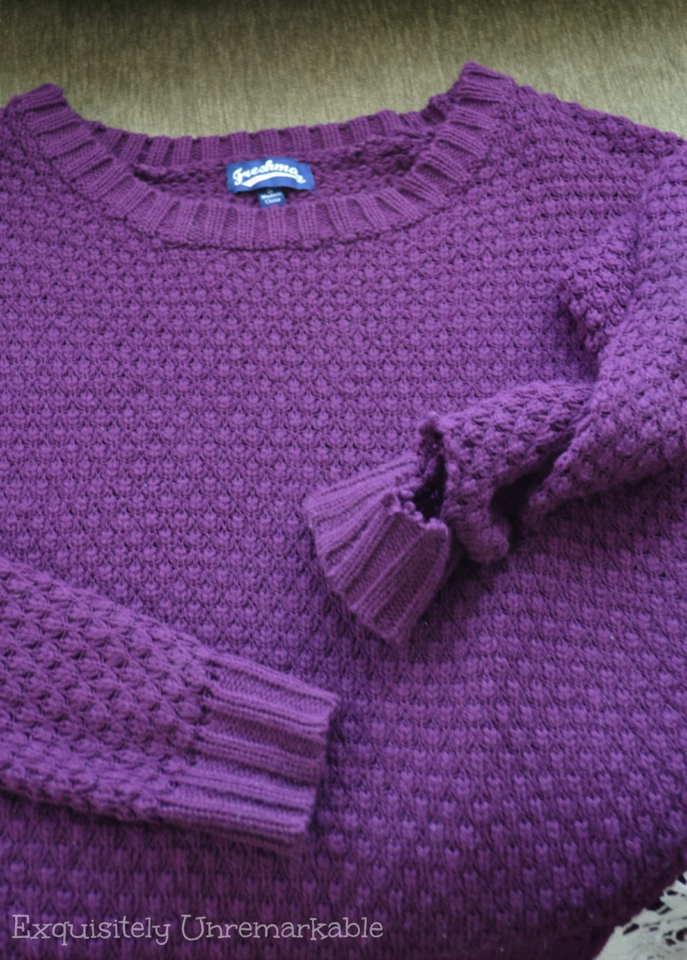 How To Fix A Ripped Sweater