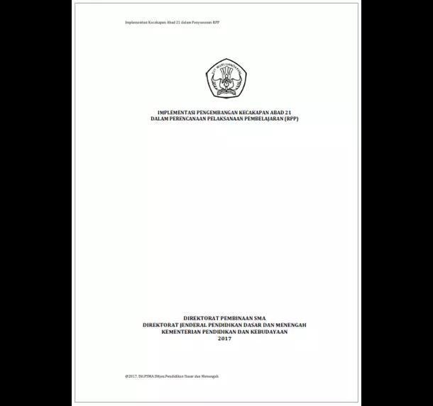 Implementasi Pengembangan Kecakapan Abad 21 dalam Perencanaan Pelaksanaan Pembelajaran (RPP)