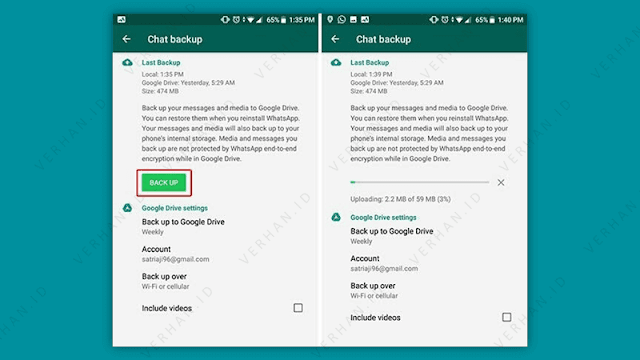 proses backup chat whatsapp