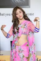 Angela Krislinzki Rogue Movie Fame Telugu Actress in Saree Backless Choli 051.JPG