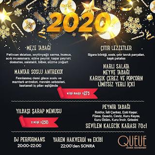 Queue Lounge Restaurant Adana Yılbaşı Programı 2020 Menüsü