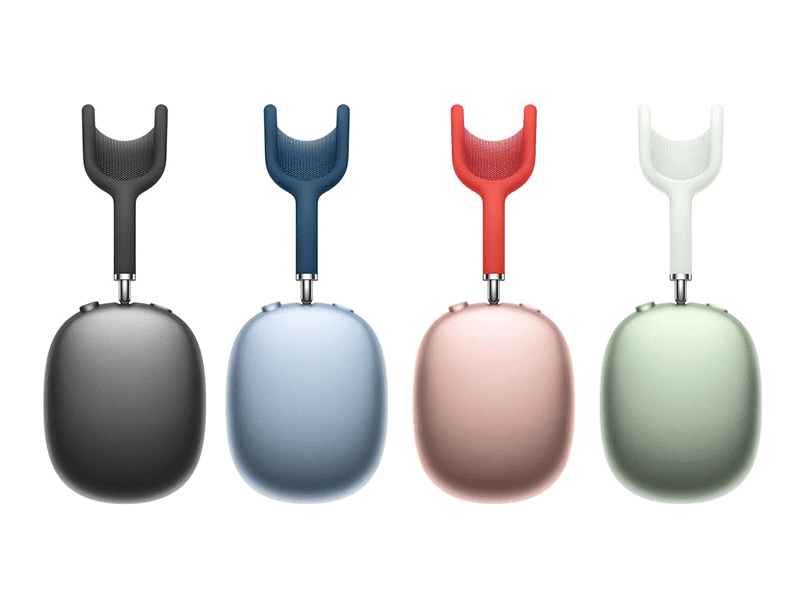Different colors of the AirPods Max
