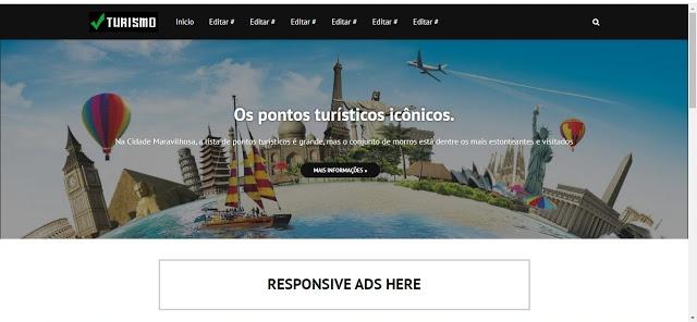 Turismo e Viagens Blogger Template