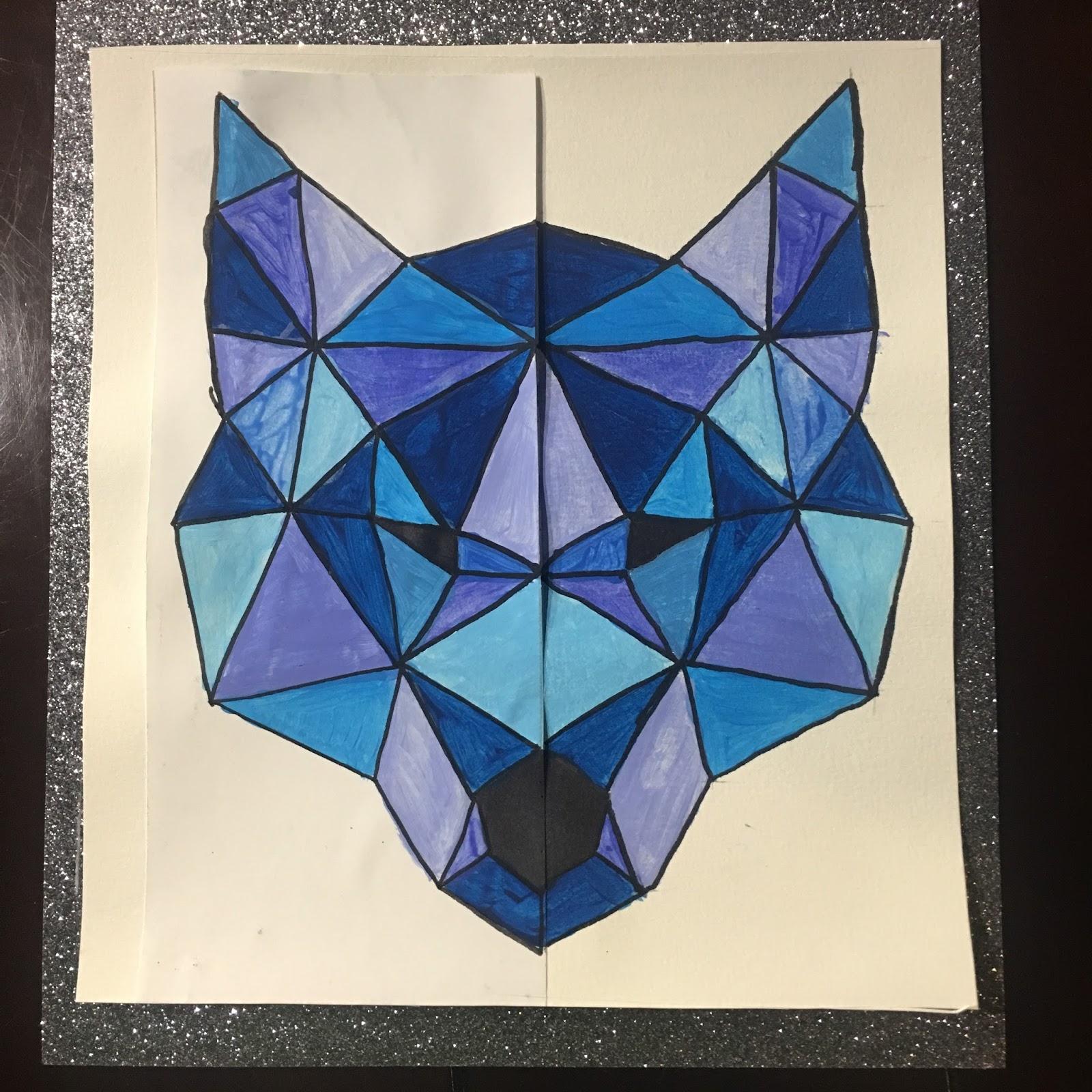 Instruction en folie arts visuels loup et sym trie - Coloriage symetrie ...