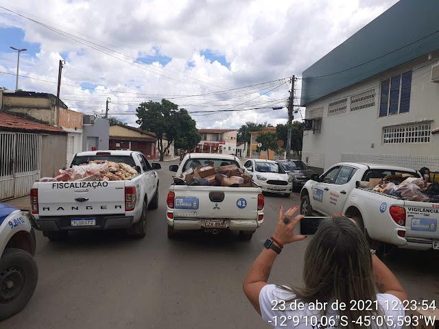 Barreiras: Operação conjunta resulta em apreenssão de toneladas de carne imprópria para o consumo