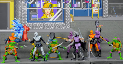 Teenage Mutant Ninja Turtles Arcade Game Figures della NECA