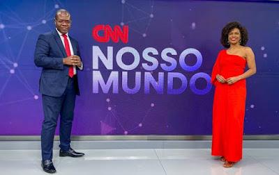 Silvio Almeida e a apresentadora Luciana Barreto - Divulgação