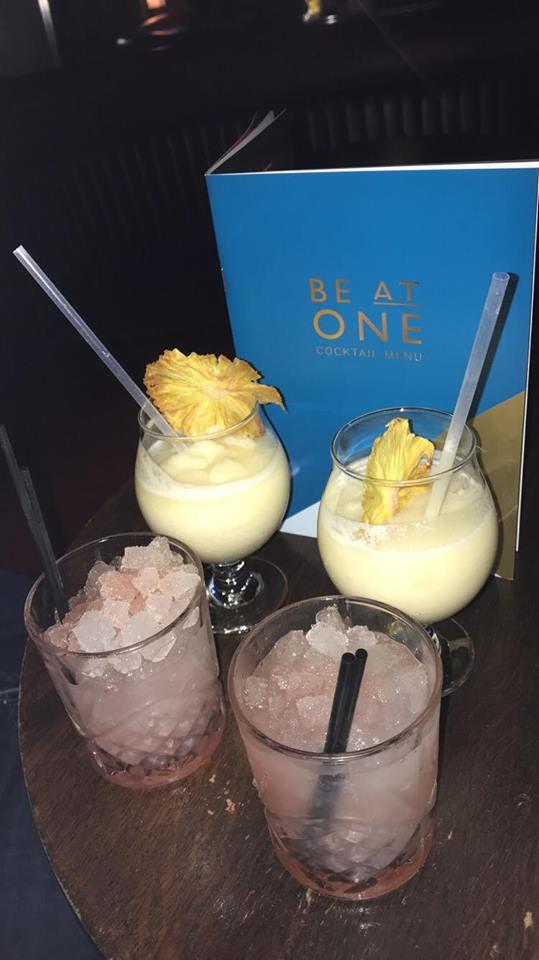 Brambles and pina colada cocktails at Be at One
