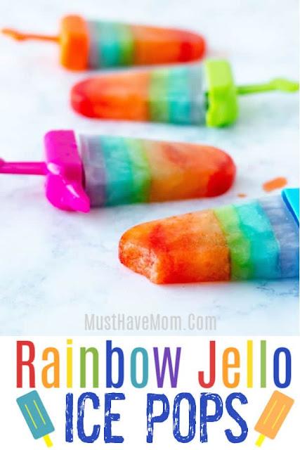 Rainbow Jello Ice Pops