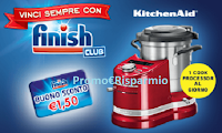 Logo Concorso ''Vinci sempre con Finish Club'': in palio 70 robot KitchenAid: anticipazione!