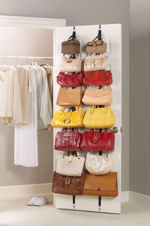 Organizador de bolsos para puerta de armario