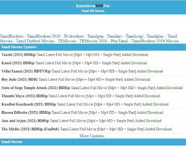 Kuttymovies Tamil Movies website