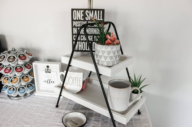 Coffee Bar Decocrated Tiered Tray