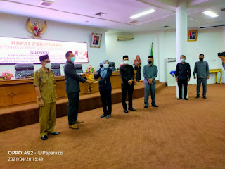 DPRD Kabupaten Batanghari Gelar Paripurna Penyampaian LKPJ Bupati Tahun 2020