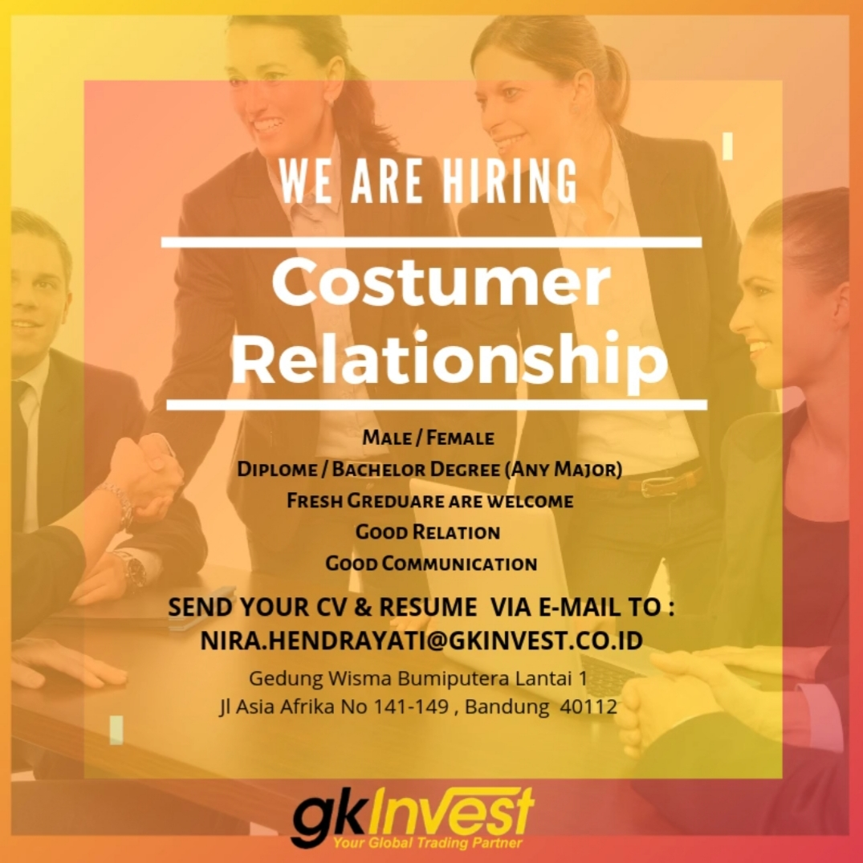 Lowongan Kerja PT. Global Kapital Investama ( GK Invest ) Bandung Februari 2020