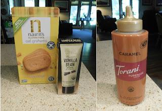 ingredients for Caramel Apple Ice Cream Pie