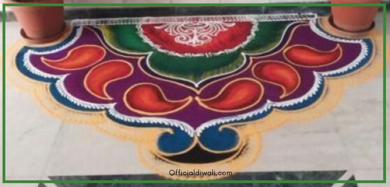Unique Rangoli Design for Diwali