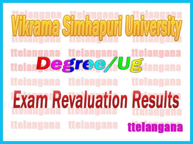 Vikrama Simhapuri University VSU CBCS UG Exam Revaluation Results