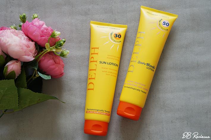 Delph Sun Lotion SPF30 and SPF50