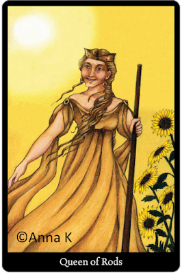 Anna K Tarot Queen of Rods