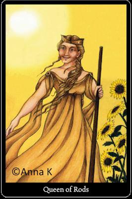 Anna K Tarot Queen of Rods