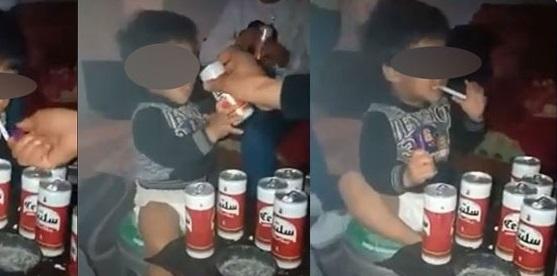 بالمنستير طفل أُجبر على التدخين وشرب الخمر