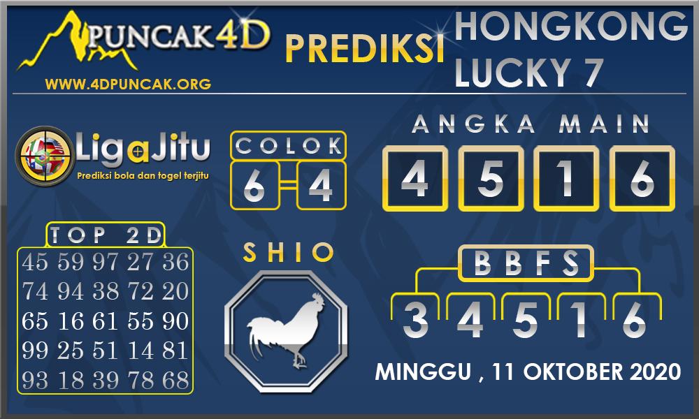 PREDIKSI TOGEL HONGKONG LUCKY7 PUNCAK4D 11 OKTOBER 2020