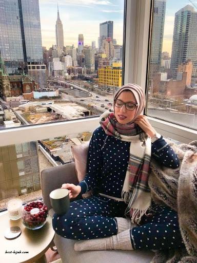 أفكار لارتداء الحجاب في المنزل