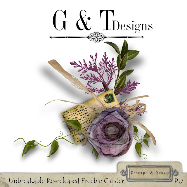 UNBREAKABLE RE-RELEASE by G & T DESIGNS and freebie