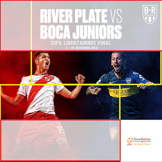 Boca Juniors vs River Plate LIVE STREAM TV Channels and more Details for Copa Libertadores final 2018 1st Leg