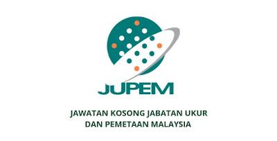 Jawatan Kosong Jabatan Ukur Dan Pemetaan Malaysia 2020 (JUPEM)