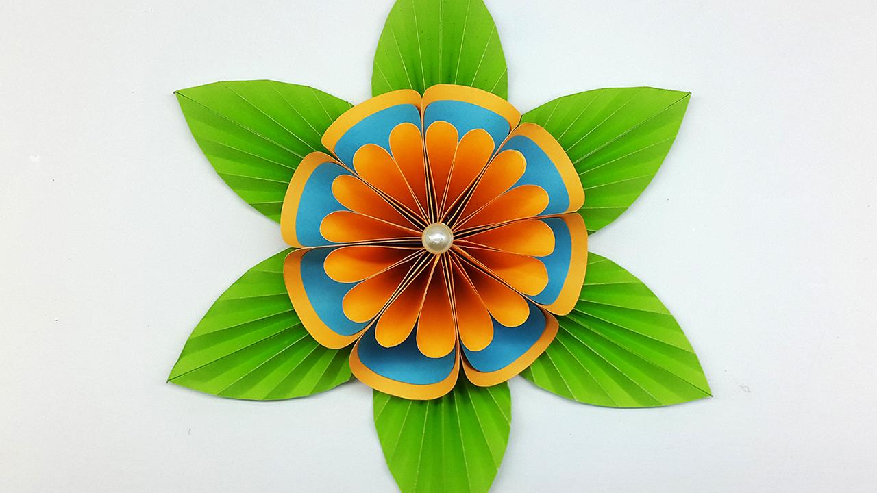 Colors Paper Diy Paper Flower Backdrop Easy Flower Making Tutorial