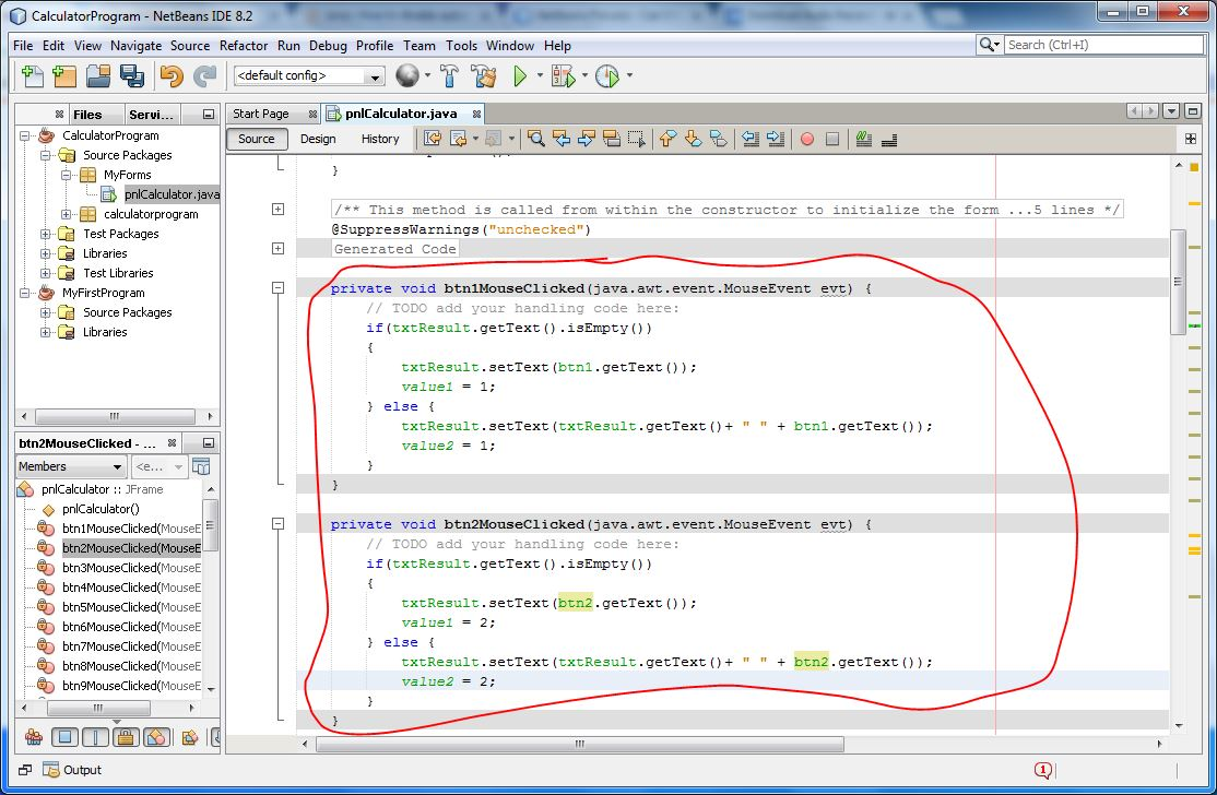 how to create a calculator in java using netbeans