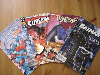 Les comics des super-héros du roman