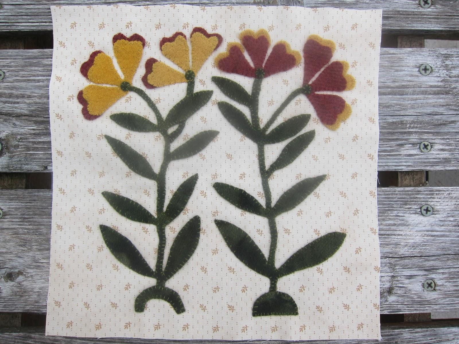 Krislovesfabric Shenandoah Valley Botanical Quilt July