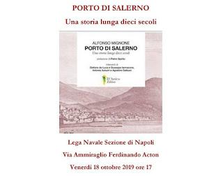 Presentazione  del libro Porto di Salerno alla Lega Navale di Napoli