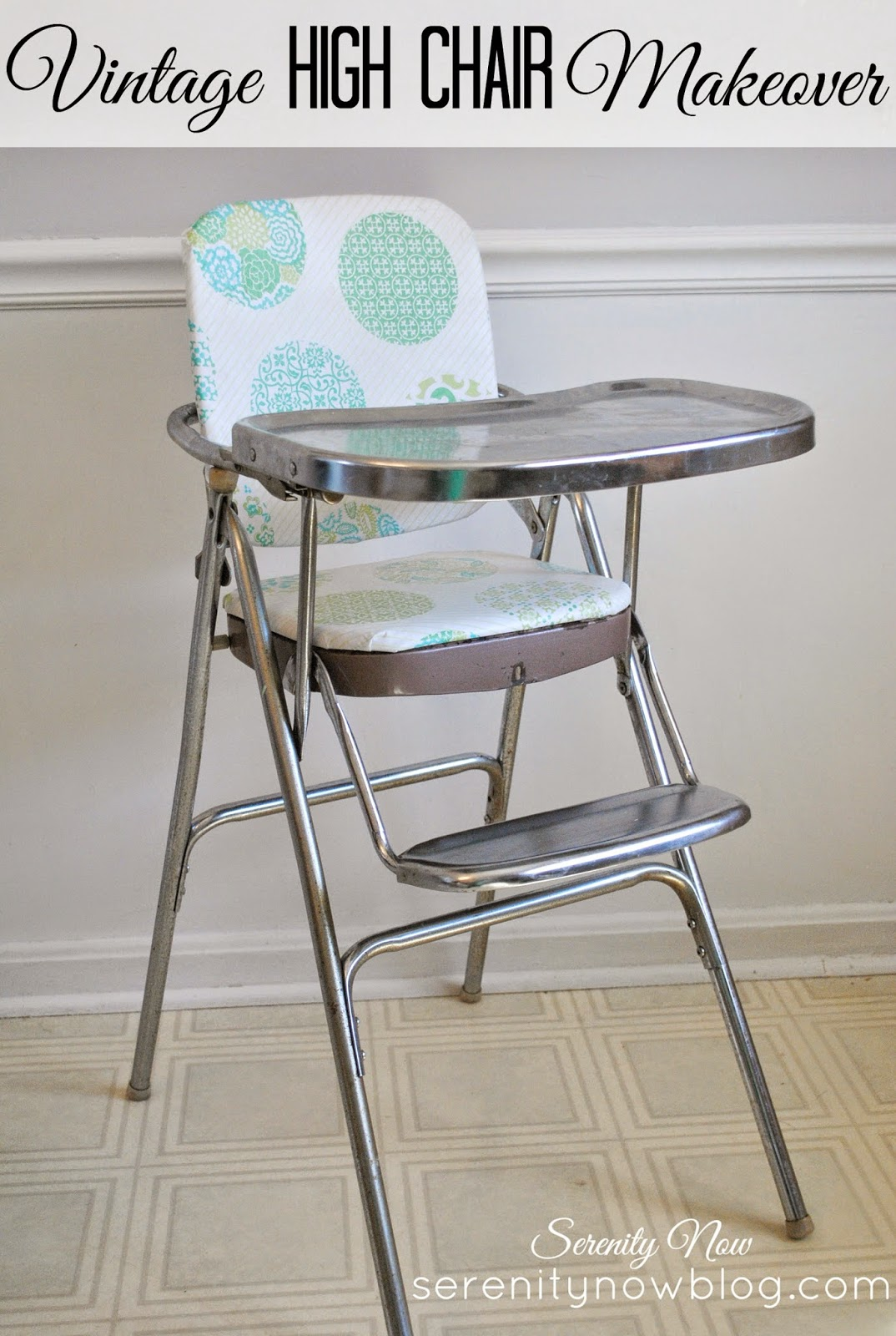 fisher price booster high chair gray folding covers serenity now: vintage stainless steel makeover