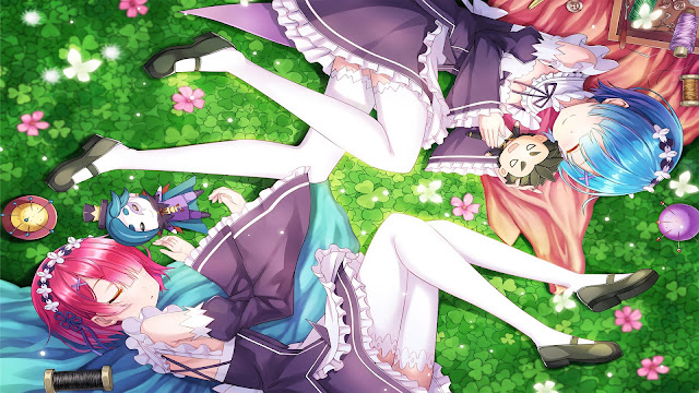 wallpaper rezero ram and rem