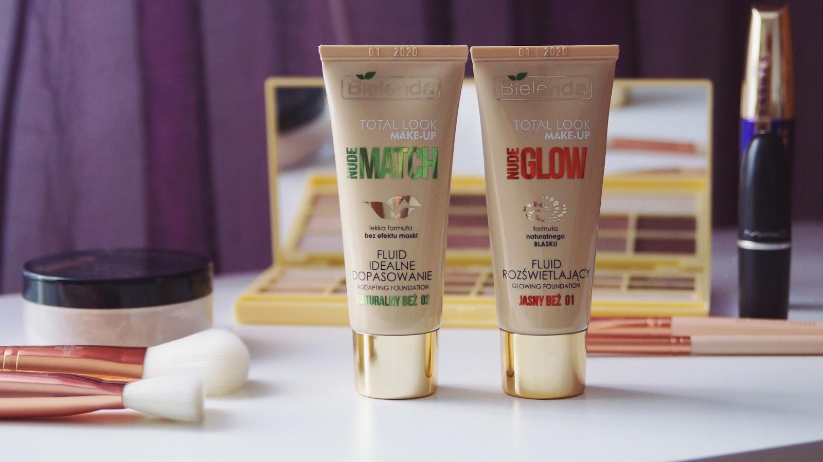 Bielenda Total Make-up - co sądzę o podkładach Nude Glow i Nude Match.