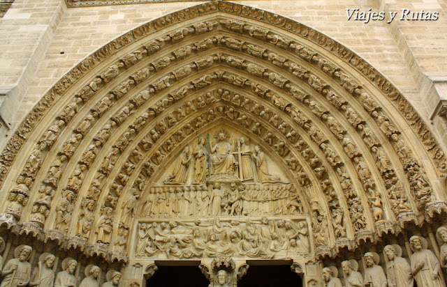Portada del juicio final de la Catedral de Notre Dame, Paris