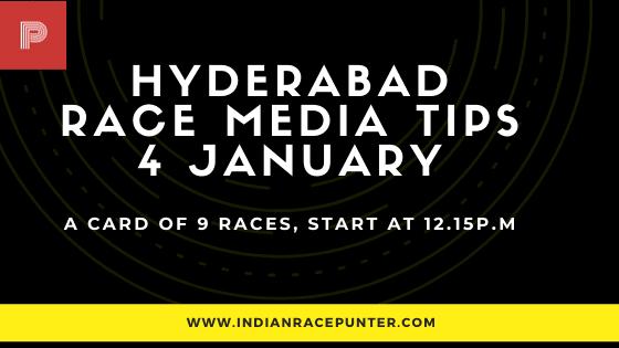 Hyderabad Race Media Tips 4 January