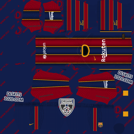 F.C. Barcelona Kits 2020-2021 Nike For Dream League Soccer 2020 (Home)