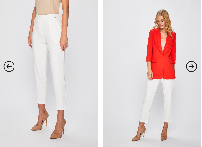 Guess Jeans - Pantaloni casual-eleganti de zi albi moderni