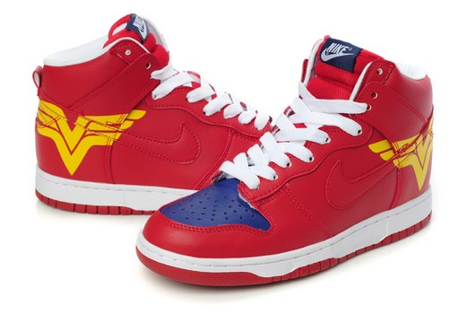 promo code 61319 b2d6a Nike Dunks Custom Design Sneakers : Nike SB Wonder Woman Dunks High ...