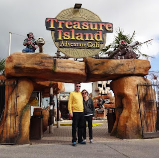 Treasure Island Adventure Golf in Southsea - where our travels began in 2006